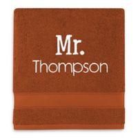 Wamsutta® Personalized Hygro® Mr. & Mrs. Duet Bath Towel in Spice