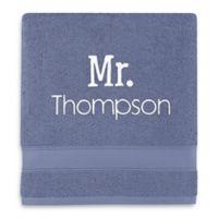 Wamsutta® Personalized Hygro® Mr. & Mrs. Duet Bath Towel in Slate