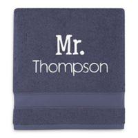 Wamsutta® Personalized Hygro® Mr. & Mrs. Duet Bath Towel in New Blue
