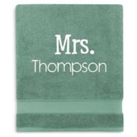 Wamsutta® Personalized Hygro® Mr. & Mrs. Duet Bath Sheet in Spruce