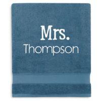 Wamsutta® Personalized Hygro® Mr. & Mrs. Duet Bath Sheet in Teal