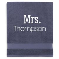 Wamsutta® Personalized Hygro® Mr. & Mrs. Duet Bath Sheet in New Blue