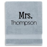 Wamsutta® Personalized Hygro® Mr. & Mrs. Duet Bath Sheet in Glacier