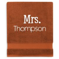 Wamsutta® Personalized Hygro® Mr. & Mrs. Duet Bath Sheet in Spice