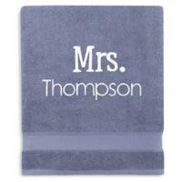 Wamsutta® Personalized Hygro® Mr. & Mrs. Duet Bath Sheet in Slate
