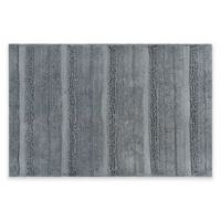 "Textured 21"" x 34"" Bath Rug in Grey"