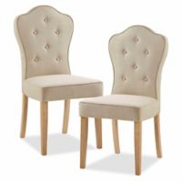 Madison Park™ Polyester Upholstered Lisa Dining Chairs in Beige/multi (Set of 2)