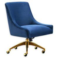 Tov Furniture™ Velvet Swivel Beatrix Office Chair in Navy