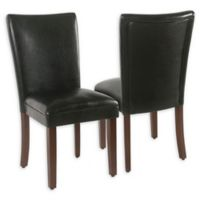 Homepop™ Faux Leather Upholstered Faux Leather Dining Chair in Black