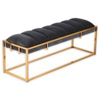 Southern Enterprises© Harlyn Upholstered Bench in Brass