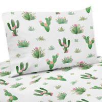 Sweet Jojo Designs Cactus Floral Queen Sheet Set