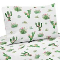 Sweet Jojo Designs Cactus Floral Twin Sheet Set