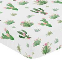Sweet Jojo Designs Cactus Floral Crib Sheet