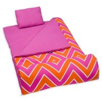 Wildkin 3-Piece ZigZag Sleeping Bag Set in Pink