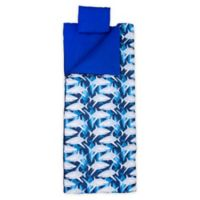 Wildkin 3-Piece Sharks Sleeping Bag Set in Blue