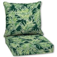 Quintana Tropical 2-Piece Outdoor Deep Seat Cushion Set in Emerald
