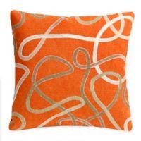 Liora Manne Ombré Indoor/Outdoor Square Throw Pillow in Orange