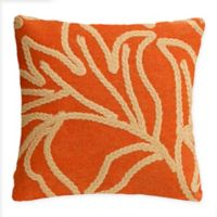 Liora Manne© Crochet Flower Square Indoor/Outdoor Throw Pillow in Orange