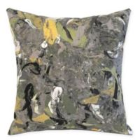 Liora Manne Lamontage Indoor/Outdoor Square Throw Pillow in Charcoal