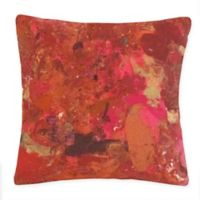 Liora Manne Lamontage Indoor/Outdoor Square Throw Pillow in Red