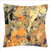 Liora Manne Lamontage Indoor/Outdoor Square Throw Pillow in Yellow