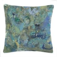 Liora Manne Lamontage Indoor/Outdoor Square Throw Pillow in Blue