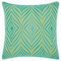 Mina Victory Chevron Indoor/Outdoor Square Throw Pillow in Green/Turquoise