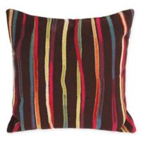 Liora Manne Ombre Square Throw Pillow in Black