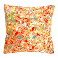 Liora Manne Abstract Splatter Square Throw Pillow in Sorbet