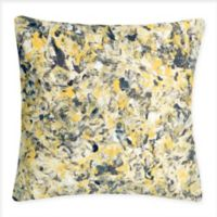 Liora Manne Abstract Splatter Square Throw Pillow in Yellow