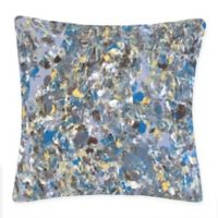 Liora Manne Abstract Splatter Square Throw Pillow in Blue
