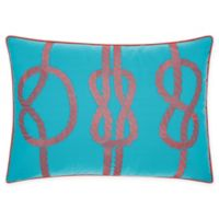 Mina Victory Three Knots Indoor/Outdoor Oblong Throw Pillow in Turquoise/Coral