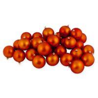 Northlight® 2.5-Inch Matte Vegas Shatterproof Ornaments in Orange (Set of 60)