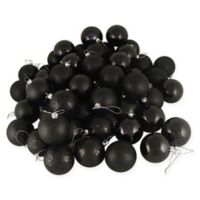 96-Count 4-Finish Christmas Ball Ornaments in Black