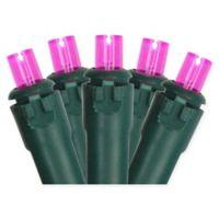 Northlight 17.5-Foot 50-Light String Lights in Pink