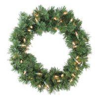 16-Inch Deluxe Pre-Lit Windsor Pine Wreath