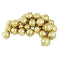 60-Count Shiny Christmas Ball Ornament in Gold