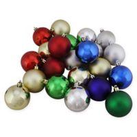 32-Count Matte Christmas Ball Ornament in Multicolor