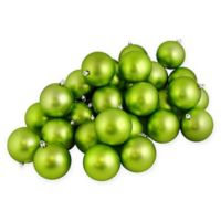 32-Count Matte Christmas Ball Ornament in Kiwi Green