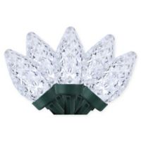 100-Count Faceted C7 LED Christmas Lights in Pure White