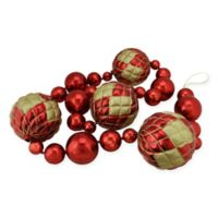 6-Foot Shatterproof Shiny Ball Garland in Red