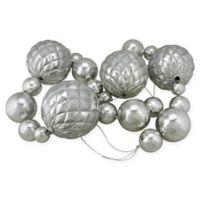 6-Foot Shatterproof Shiny Ball Garland in Silver