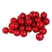 32-Piece Shiny Christmas Ball Ornament in Red