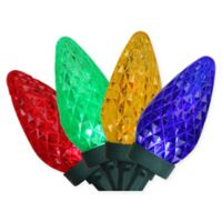 100-Count Faceted C9 LED Christmas Lights in Multicolor