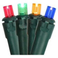 100-Count Concave LED Christmas Lights in Multicolor