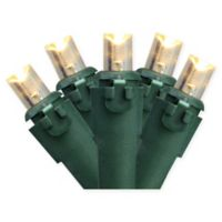 100-Count Concave LED Christmas Lights in Warm White