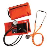 MatchMates Aneroid Sphygmomanometer and Sprague Rappaport Stethoscop Kit in Orange
