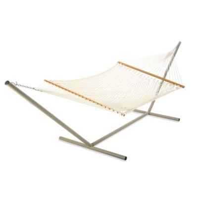 castaway hammocks by pawleys island large rope hammock in white - Pawleys Island Hammock