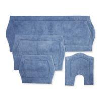 Waterford 4-Piece Bath Rug Set in Blue