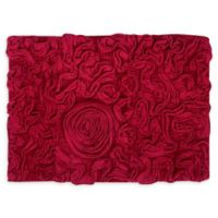 "Bellflower 17"" x 24"" Bath Rug in Red"